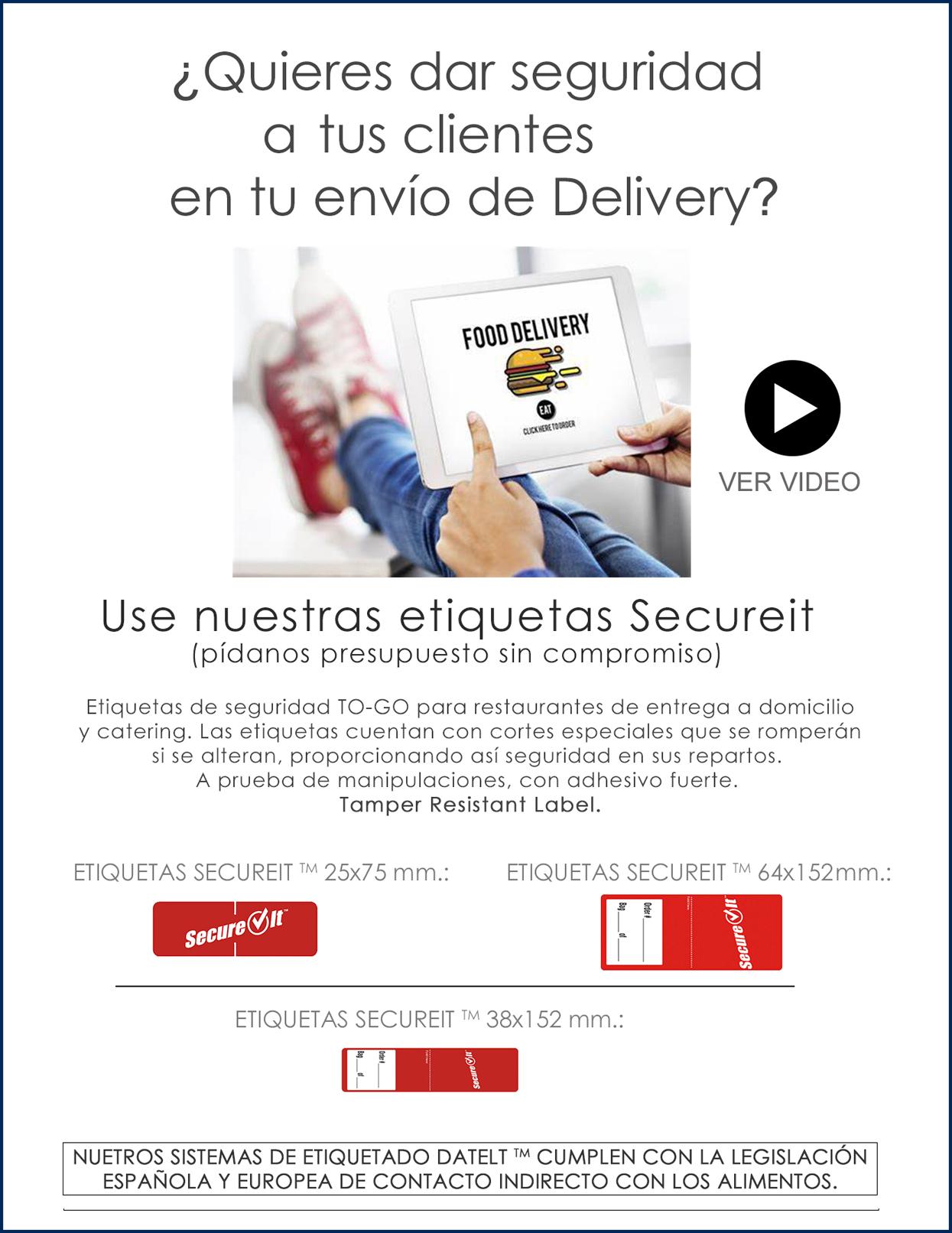 Seguridad en envío delivery